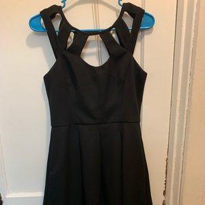Betsey Johnson Pleatee Cutout Dress Black 6